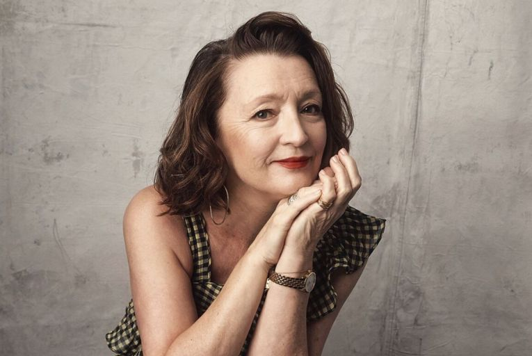 Lesley Manville has the time of her life
