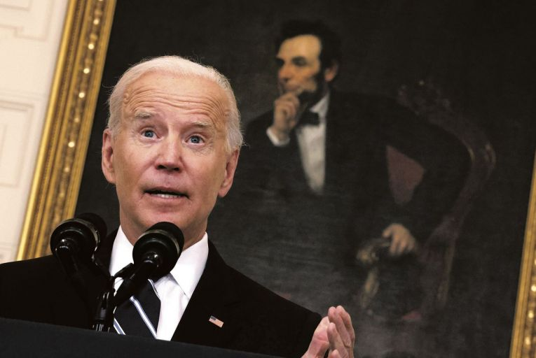 US president Joe Biden: exasperated by Republicans fighting his vaccination requirements. Picture: Getty