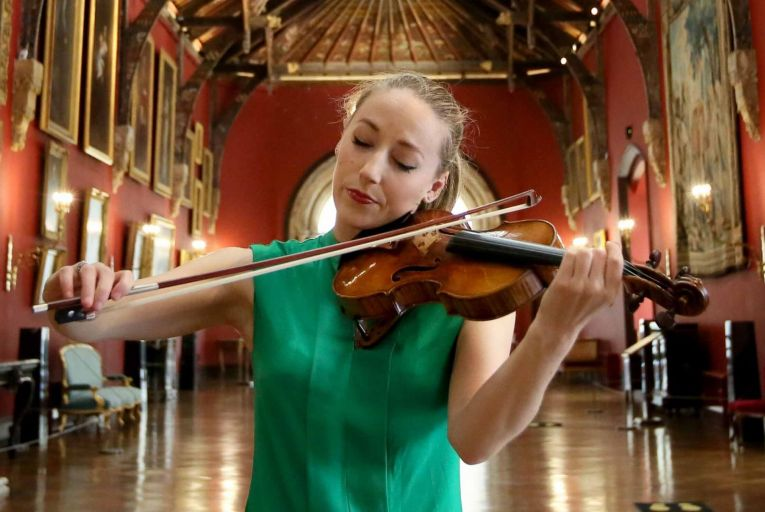 Aoife Ní Bhriain at The Picture Gallery, Kilkenny Castle. Picture: Mark Stedman