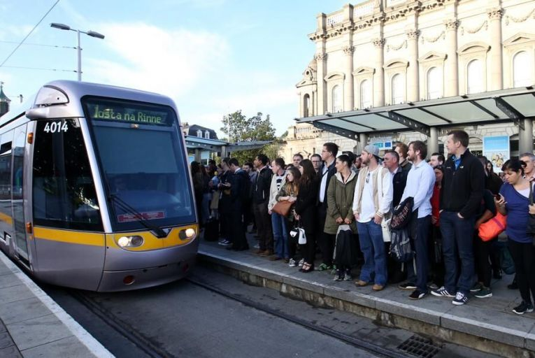 Renters pay around €1,300 a month to rent near the Luas red line  Pic: RollingNews.ie