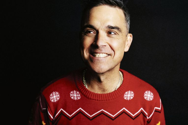 Robbie Williams: 'My performance models are, basically, Tim Curry in the Rocky Horror Picture Show and John Travolta in Grease.' Picture: Leo Baron