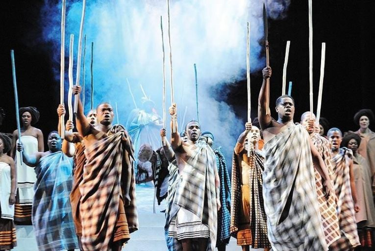 The first act of Mandela focuses on the future South African leaders rural upbringing among the Xhosa tribe Pic: John Snelling