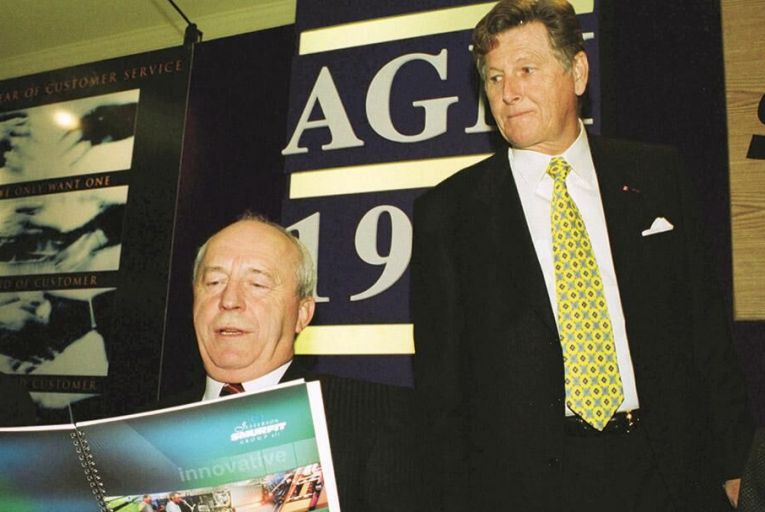 The late Howard Kilroy, a trusted lieutenant and longtime confidant of Michael Smurfit (right) at the Smurfit Group   Pic: Photocall