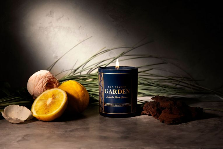 The Secret Garden candle by Natasha Rocca Devine and La Bougie is priced at €30 for a 30ml glass