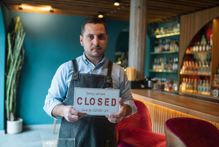 The planned reopening of indoor dining for restaurants and pubs was abandoned last week amid concerns over the potential impact of the new Delta variant of Covid-19. Picture: Getty Images