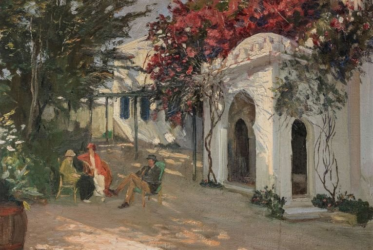 In Morocco by John Lavery was painted in 1920 in Tangier