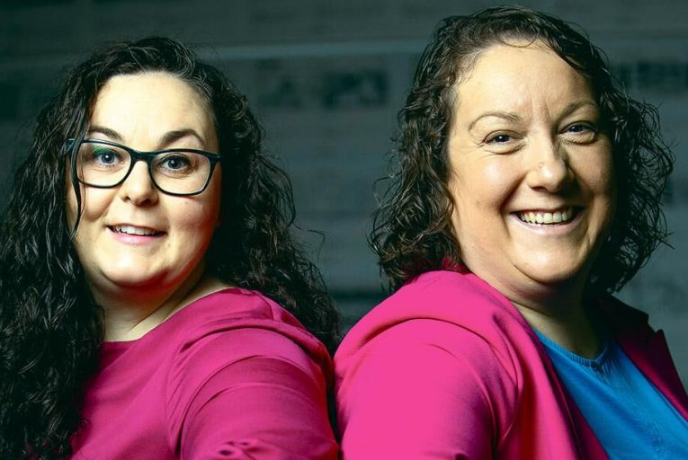 Niamh Herrity and Aoife Doyle, founders of animation house Pink Kong Studios PIc: Fergal Phillips