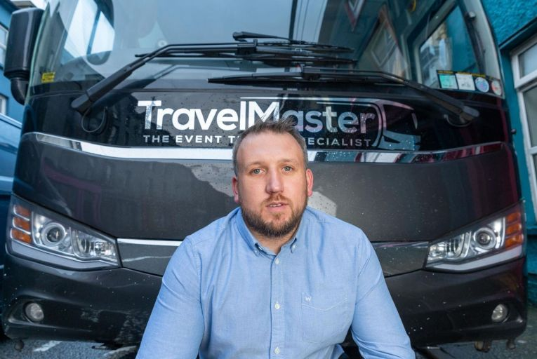 Damien Long CEO and founder of Travel Master   Picture. John Allen