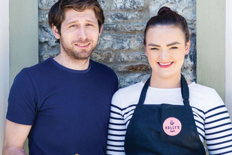 Jon Butler and Holly Kelliher serve stunning looking desserts at Holly's Café in Kilkee