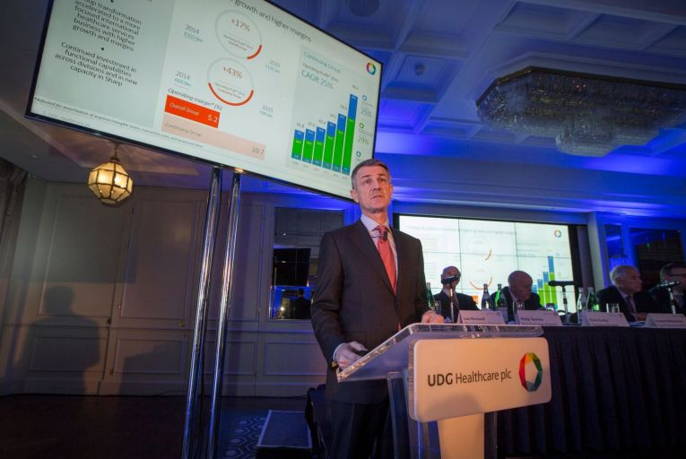 Brendan McAtamney, chief executive of UDG Healthcare which earlier this month announced it had accepted the takeover offer from CD&R. Picture: Fergal Phillips