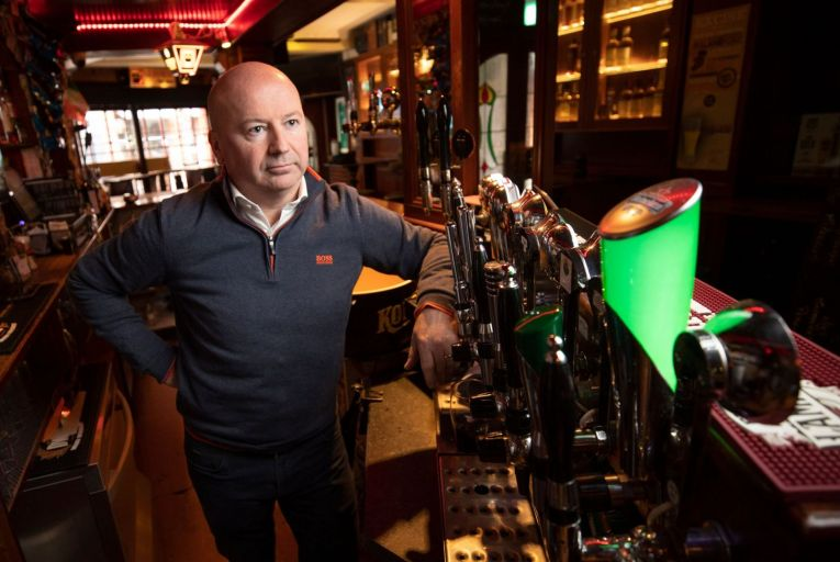 Alan Campbell of Bankers Bar Trinity Street, one of hundreds of businesses believed to be insured with British-based insurers affected by the UK Supreme Court ruling. Picture: Fergal Phillips