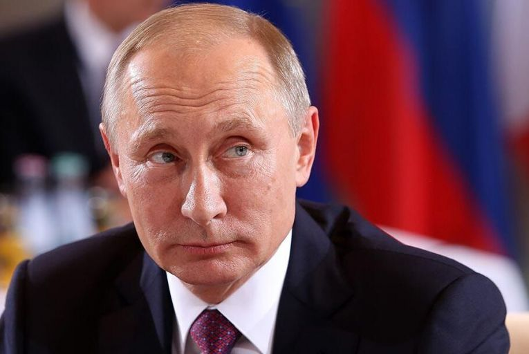 Vladimir Putin: a total of 61 per cent of Russians still rate his performance positively. Picture: Getty