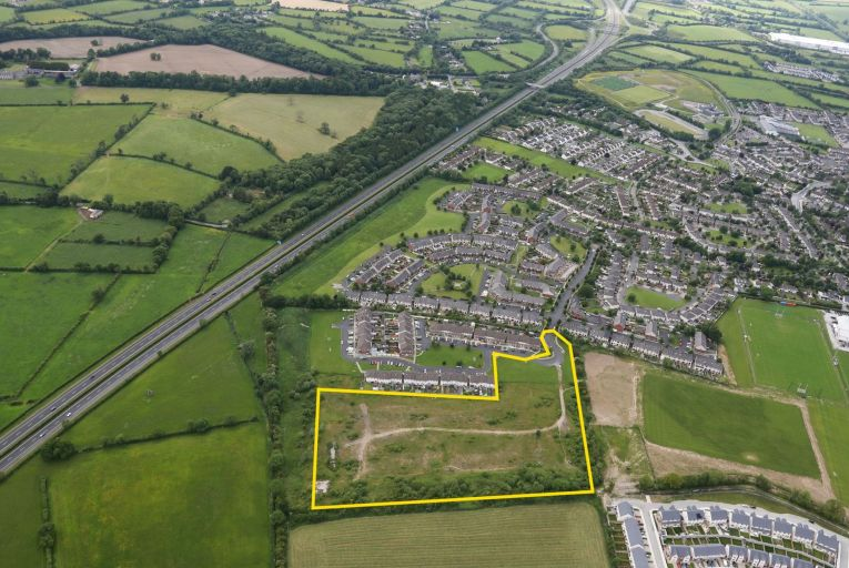 Lands for sale at Branganstown in Kilcock, Co Kildare offer 'an excellent development opportunity with planning permission for an attractive scheme of 66 houses'