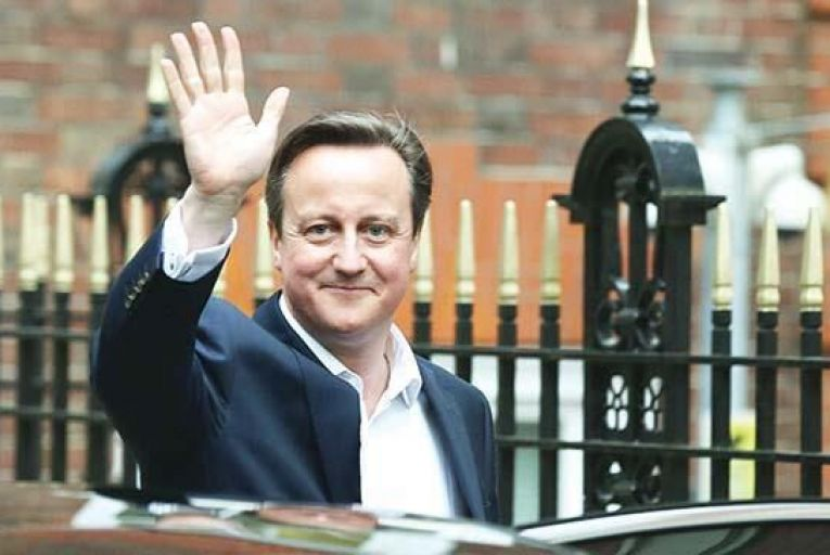David Cameron returned to Downing Street on a wave of support. Picture: Getty