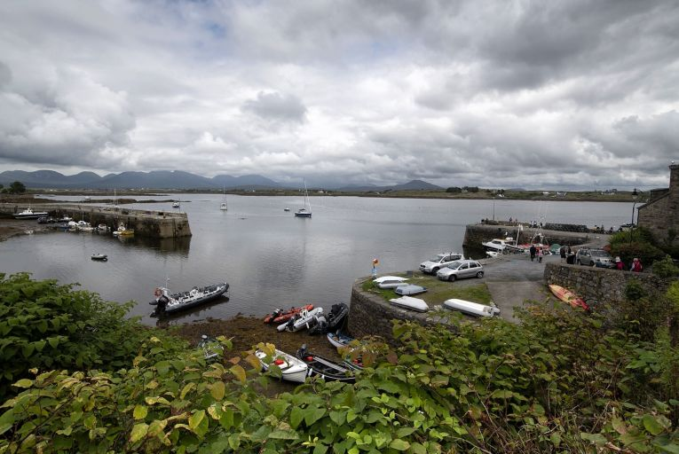 There are two other underwater sewer pipes discharging sewage from the village of Roundstone into Roundstone Bay, one to the north of the harbour and another to the south of it. But neither of them is clearly visible, so only locals know about their existence. Picture: Michael Dillon