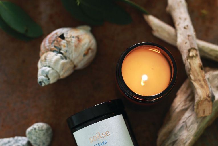 Soilse Candles' Strand, €18.50, is reminiscent of days spent at the beach