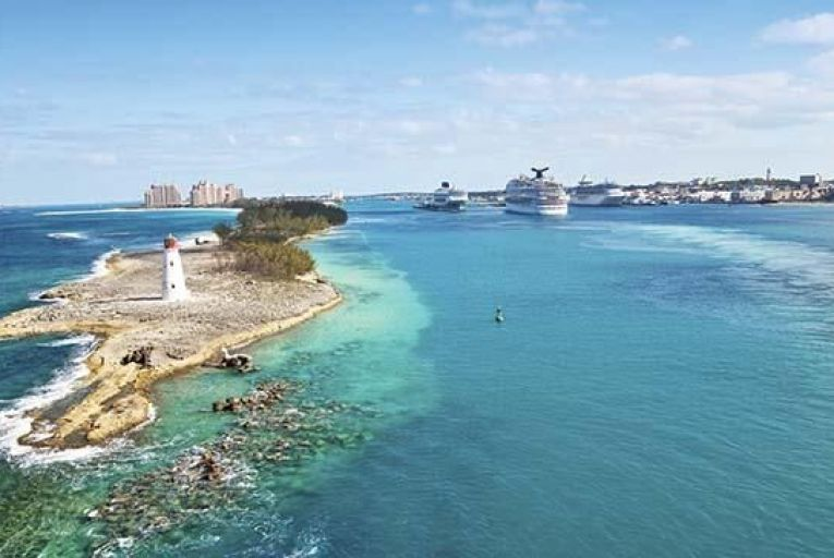 The island of New Providence in the Bahamas