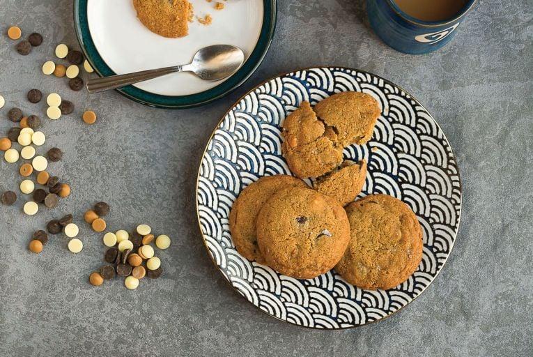 These triple chocolate chip cookies use buckwheat