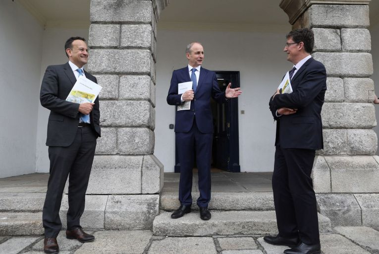 Leo Varadkar, Micheál Martin and Eamon Ryan: the coalition is preparing an ambitious plan to get 400,000 people back to work. Picture: RollingNews
