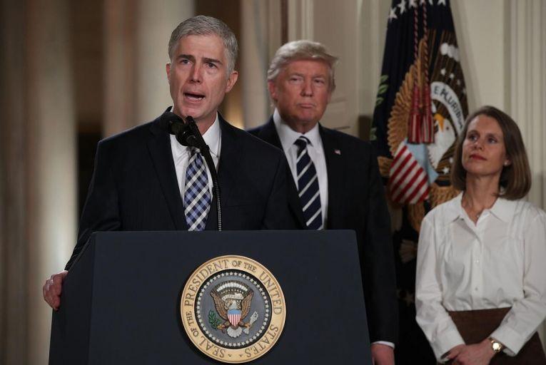 Judge Neil Gorsuch is Trump\'s Supreme Court pick. Pic: Getty