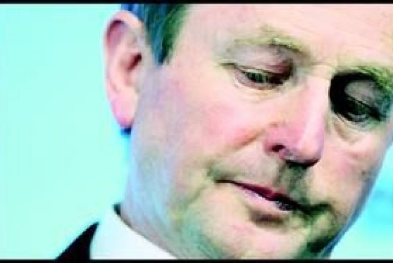 Enda Kenny: Fine Gael support is down by 4 per cent. Photo: Bloomberg