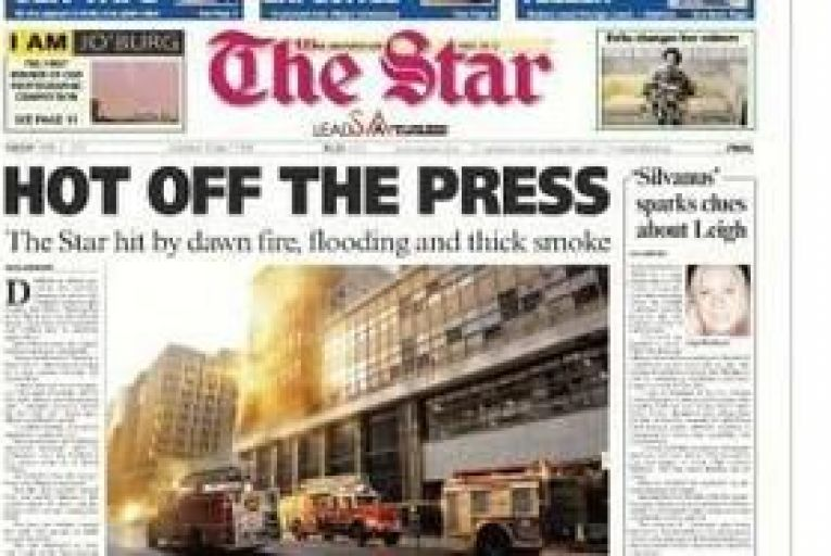 INM's South African newspaper office damaged by fire