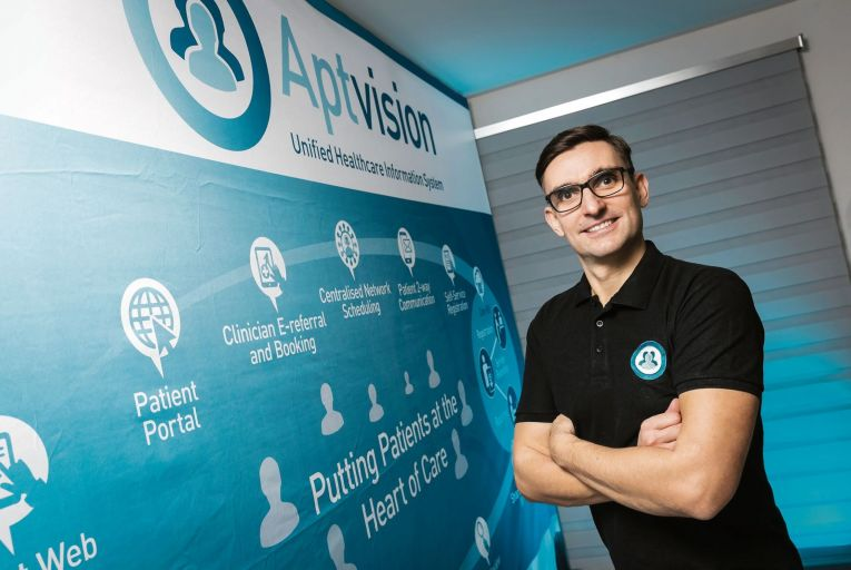 Paul Wierzbicki, co-founder of Aptvision: 'We have worked incredibly hard to get this system up and running since December.' Picture: Shane O'Neill