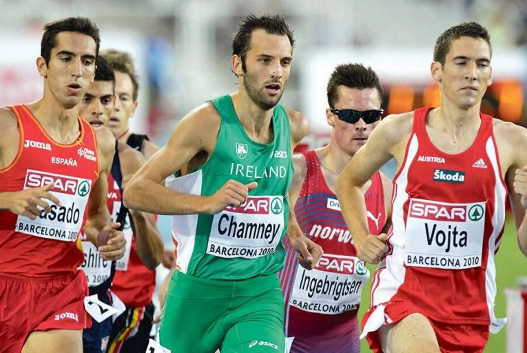 Thomas Chamney running in the heats of the Men's 1500m at the 2010 European Athletics Championships in BarcelonaINPHO/Morgan Treacy