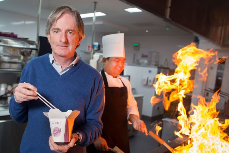 Brody Sweeney, chief executive, Camile, pictured with chef Roel Ramos at the company's outlet in Rathfarnham, Dublin 14. Picture: Fergal Phillips