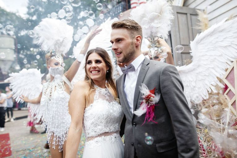 Farewell to pre-pandemic monster weddings: there is still a great amount of uncertainty about what restrictions might be in place for weddings over the next few months, and many are favouring smaller events. Picture: Getty
