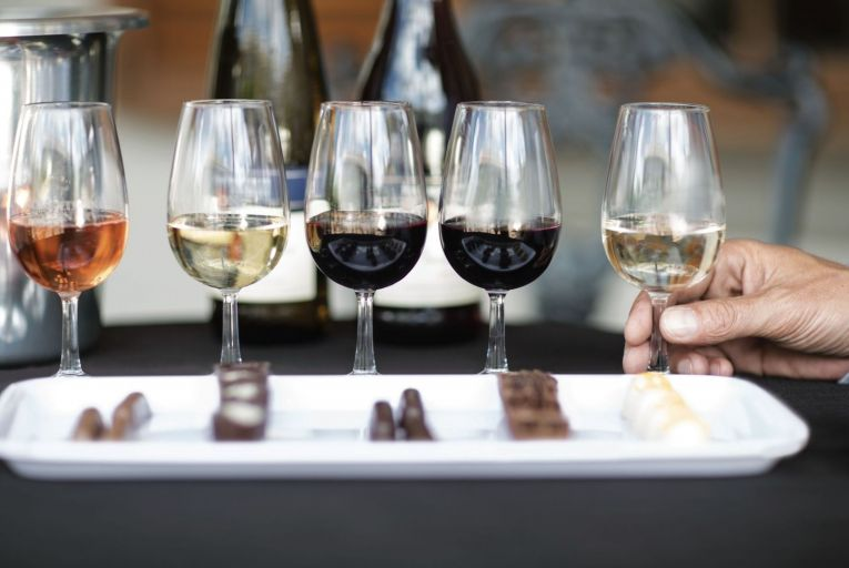 Beautiful artisan chocolate creations deserve equally decadent wines
