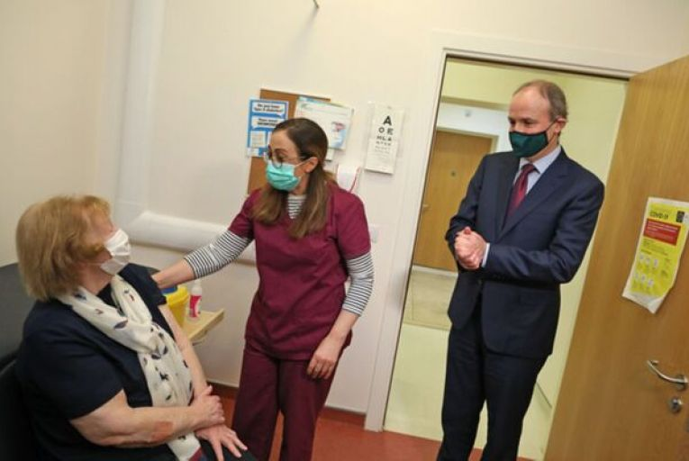 Hospitalisation of the over 65s has fallen 15 percentage points more than the under 65s since the peak of the third wave as the vaccine rollout takes effect. Picture: Rollingnews.ie