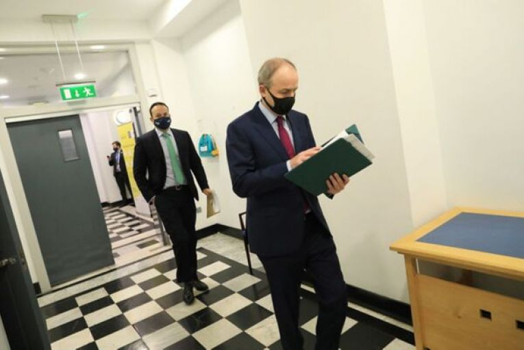 Leo Varadkar and Micheál Martin both stressed that the only thing that would limit the rollout of vaccines would be supply and not the state's ability to get them to people. Picture: Julien Behal