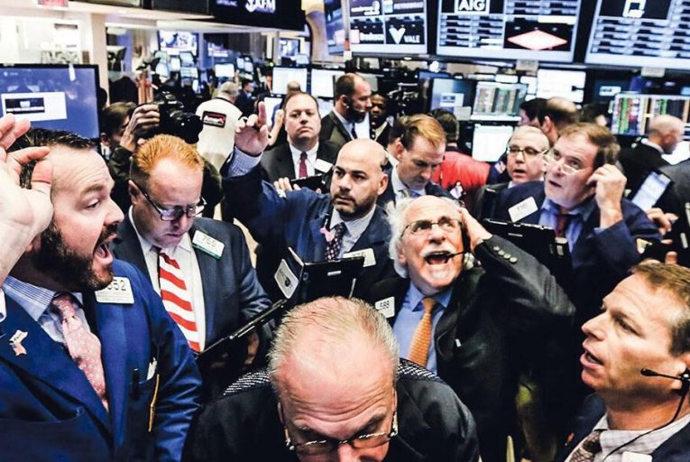 The US stock markets  are frothy, with a big  correction inevitable Picture: Bloomberg