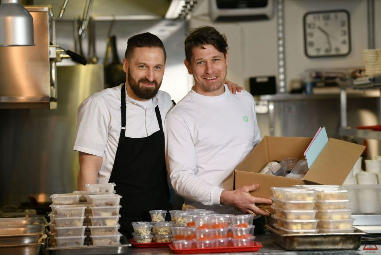 Keelan and Aaron Higgs of Variety Jones on Thomas Street in Dublin 8: you can now enjoy their 'refined and unfussy dishes' at home. Picture: Bryan Meade