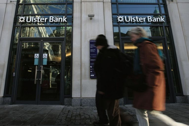 Ulster Bank: this year, a €37.77 million bill for the 49 separate regulatory breaches the bank has admitted to fell due Picture: Peter Muhly/AFP via Getty