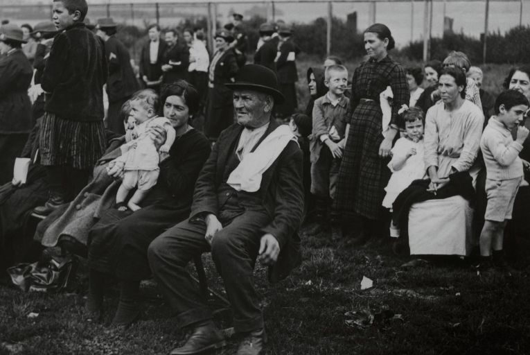 Immigrants wait to be processed on Ellis Island in New York, circa 1920: the Immigration and Nationality Act of 1965 reduced the number of Irish people that could emigrate to the US. Picture: Getty