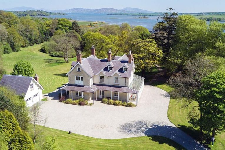 Carn Lodge, a six-bed country residence just outside Ramelton on the edge of Lough Swilly in Co Donegal