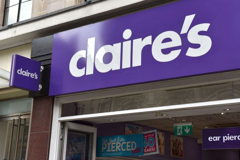 Claire's Accessories, the US retail chain, has a large network of stores in Ireland. Photo: Getty