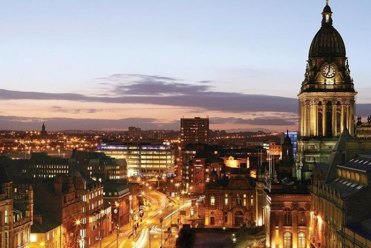 Headrow and Leeds town hall by night   Picture: Leeds City Council