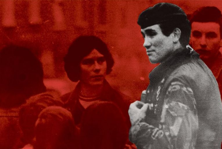 Robert Nairac pictured talking  to youths in the Ardoyne  area of West Belfast: he was  killed in the early hours  of May 15, 1977