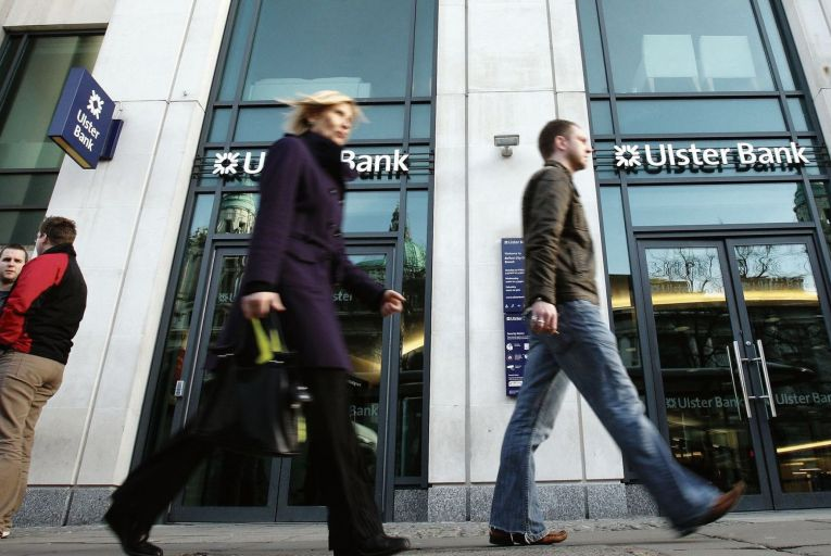 Ulster Bank HQ in Belfast: the bank is withdrawing from Ireland on a phased basis over a number of years Picture: PA
