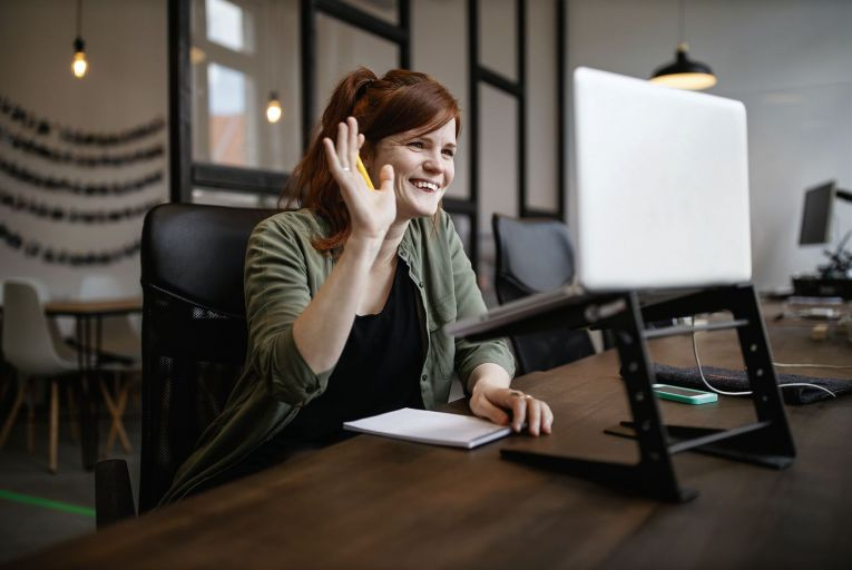 With many businesses still working remotely, virtual onboarding of recruits has become the norm through emails, video calls and online chat rooms. Picture: Getty Images