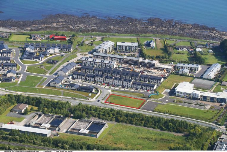 Barnageeragh Cove site in Skerries, which has planning permission for a creche and doctor's surgery. Picture: Barrow Coakley