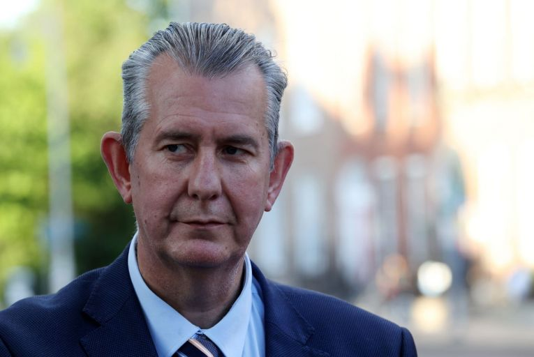 Edwin Poots said he had asked the DUP's chairman to commence an electoral process within the party to allow for a new leader to be elected. Picture: Rollingnews.ie