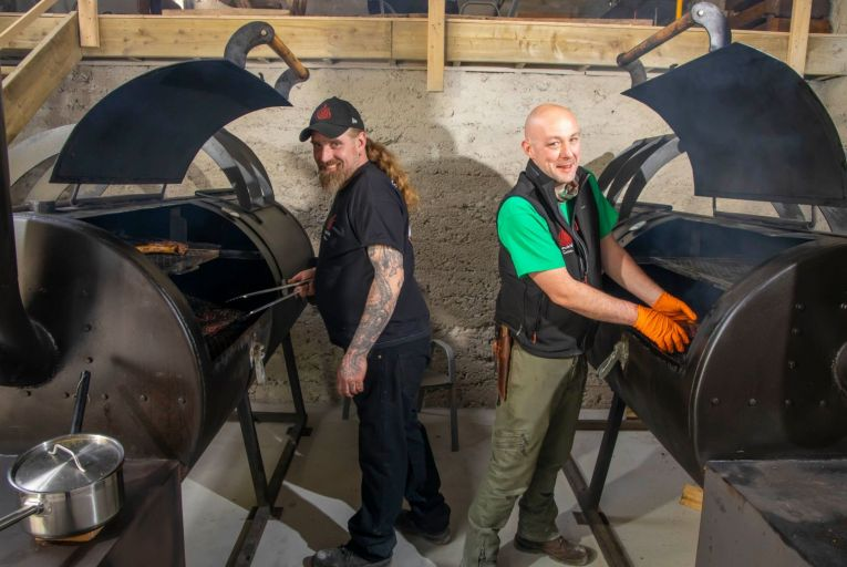Jim O'Brien and Pat Conway of Smokin' Soul advise anyone who wants to get into grilling to get to know a good butcher, do your reading and upgrade your kit. Picture: Patrick Browne
