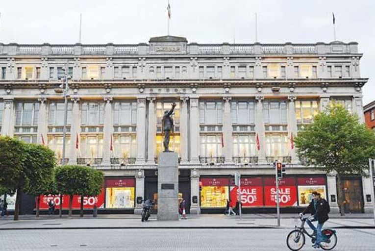 The site of the former Clerys department store on O'Connell Street