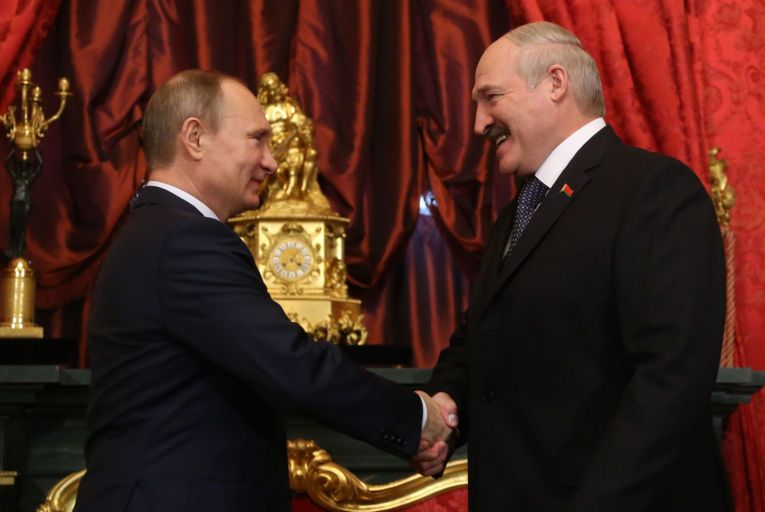 'While the relationship between Aleksandr Lukashenko and Vladimir Putin oscillates between warm and lukewarm, make no mistake – Belarus is a proxy for Russia and will do its bidding on the world stage.' Picture: Getty