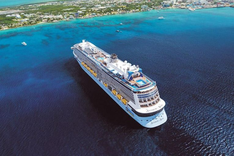 The Anthem of the Seas cruise liner pictured at Grand Cayman