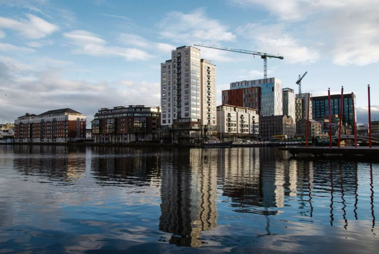 Apartments in Grand Canal Dock in Dublin, where prices are steadily rising Picture: Fergal Phillips
